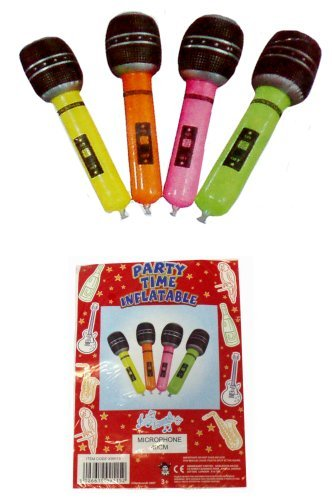 Henbrandt - Micrófono hinchable, se vende como uno solo (4 colores para elegir como se muestra en la imagen)