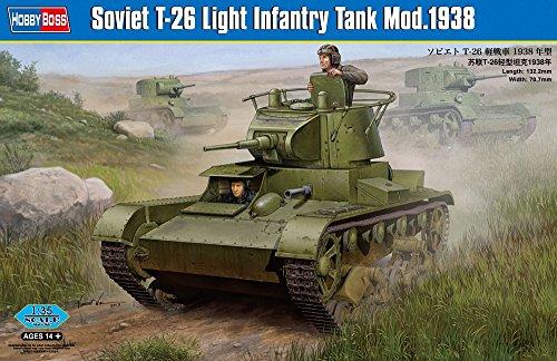 Hobby Boss 82497 Modellbausatz Soviet T-26 Light Infantry Tank Mod 1938
