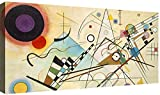 Quadri Moderni Kandinsky cm 100x50 Stampa su Tela Canvas Soggiorno XXL Arte