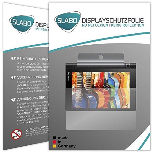 Slabo 2 x Bildschirmschutzfolie Lenovo Yoga Tab 3 (8 Zoll) Bildschirmschutz Schutzfolie Folie No Reflexion|Keine Reflektion MATT - Entspiegelnd Made IN Germany