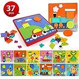 BeebeeRun 37 Piezas 3D Tablero de Mosaico Infantiles, Puzzle 3D,...