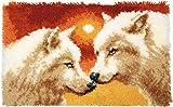 Vervaco 2 Wölfe Knüpfteppich
