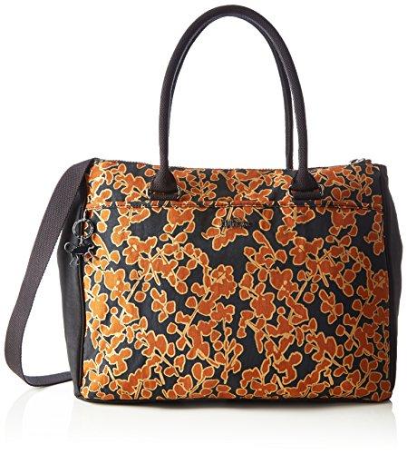 Kipling New Halia, Borsa con Maniglia Donna Multicolore (18Y Floral Metallic)