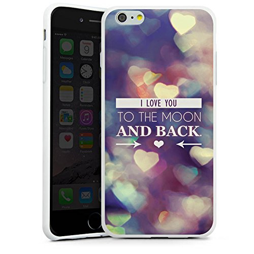 Apple iPhone X Silikon Hülle Case Schutzhülle Valentinstag Geschenk Liebe I love you Silikon Case weiß
