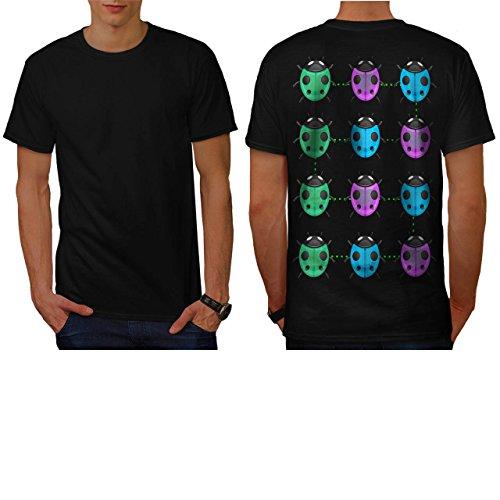 plusieurs-coccinelle-coccinelle-homme-nouveau-noir-l-t-shirt-reverse-wellcoda