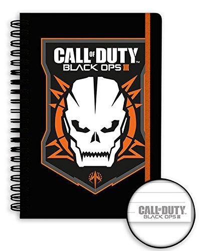 Preisvergleich Produktbild Call of Duty Black Ops 3 Notizbuch DIN A5 mit Logo (Spiralbindung & Hardcover 17x21x2,5 cm)