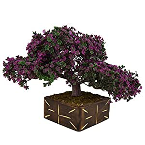 Thefancymart Artificial Bonsai Tree Plant with Wood Pot (10 inchs/ 25 cms) (Code-637)