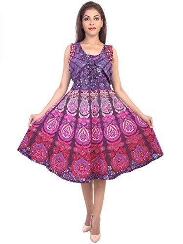 Decot Paradise Presenting Jaipuri Women Skirt Cotton short Length Printed New Fashion Dress (Multi)