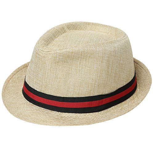 a3cb0895c Coucoland Panama Cappello Mafia Gangster Uomo Fedora Trilby Bogart Cappello  Uomo 1920s Gatsby Costume Accessori Beige