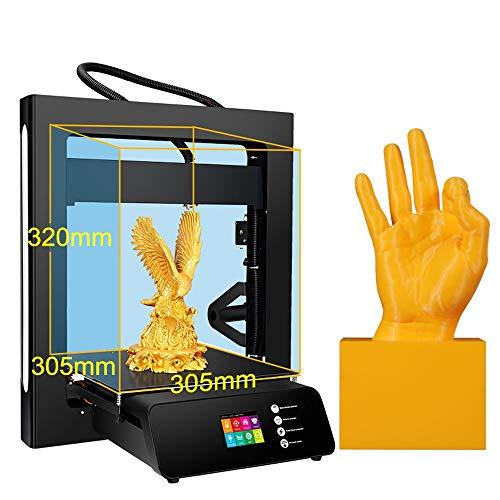 ZHQEUR A5S 3D-Drucker mit UL-zertifiziertem Netzteil und Druck mit SD-Karte, Baugröße 305 * 305 * 320 mm 3D Drucker