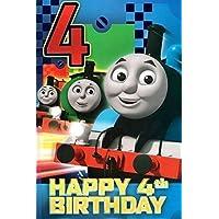 Thomas the Tank Engine Age 4 Birthday Card