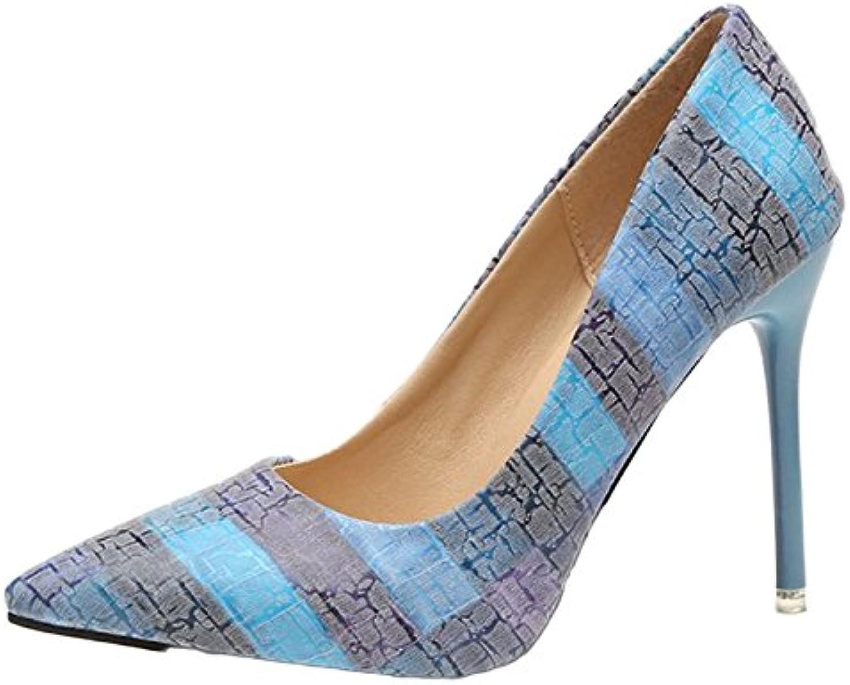 Mesdames Stiletto Talon Haut Fermé Orteils Escarpins Escarpins Orteils Chaussures De Travail Chaussures Sexy Chaussures Peu Profondes...B07DNYHT19Parent 42af56