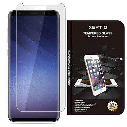 Samsung Galaxy S9 : Protection d'écran en verre trempé – Tempered glass Screen protector 9H premium / Films vitre Protecteur d'écran smartphone 2018 – Version intégrale avec accessoires –
