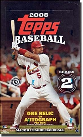 2008 Topps Baseball Cards Series 2 HOBBY BOX Factory Sealed w/ one AUTO or Memorabilia Card/Box & Red HOT Rookies?? (36 Packs) by Topps