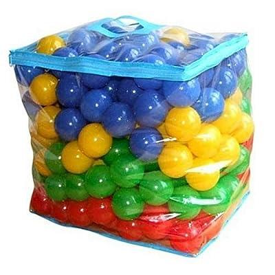 Bieco 22000510 - 100 bolas de colores de plástico (6 cm), colores variados [importado de Alemania] por Bieco
