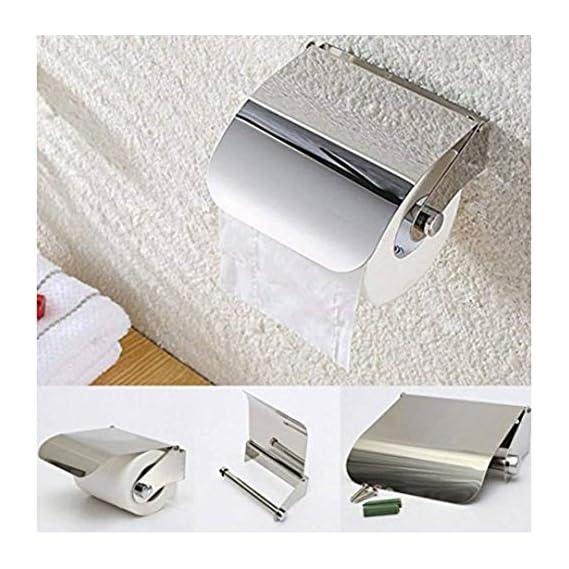SBD Stainless Steel Multipurpose Bathroom Toilet Paper Holder (One Side Cut Easy Refill)