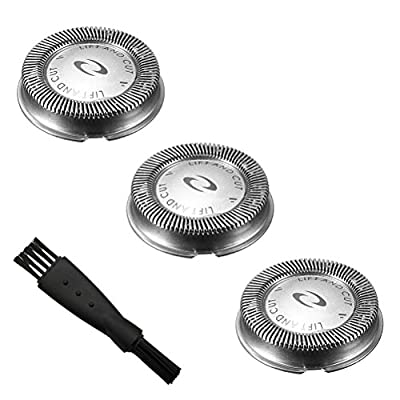 DoBaTo 3 x Dual Blade System Compatible Replacement Shaving Heads / Shaver Heads / Shaving Blades + 1 Cleaning Brush for Philips HQ5812 HQ5846 HQ5806 HQ5847 HQ5866 (3pcs) from DouBaTu