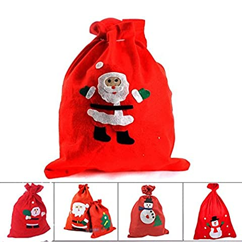 Noël Xmas Decor Home Party Candy Gift Christmas Wedding Bag, Noël geschenktuten, 4 grossière, Medium: 30 * 40cm