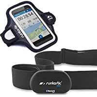 Runtastic Bundle Promotion RUNBT1+ RUNARM3, Heart Rate Combo Monitor, Herzfrequenzmesser Bluetooth Smart + Sports Armband 3.0Behälter Armbinde Neopren, Schwarz