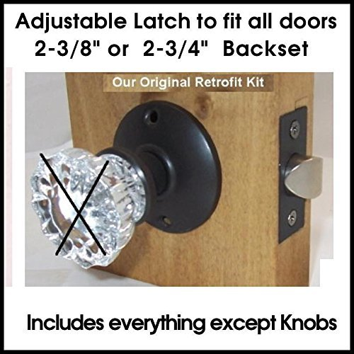 Our Original Retrofit Kit to INSTALL YOUR ANTIQUE KNOBS in MODERN DOORS Pre-Drilled Doors, Time tested and a very affordable price for a home owner to instal. Satisfaction guaranteed and Real Customer Service. by Rousso's Reproduction Instal Kit