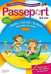 Passeport De la PS à la MS - 3/4 ans- Cahier de vacances