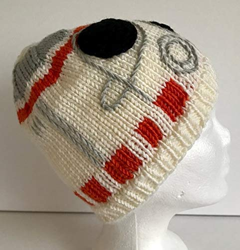 Handgestrickte Mütze BB8 Star Wars Kopfumfang 54-56 cm