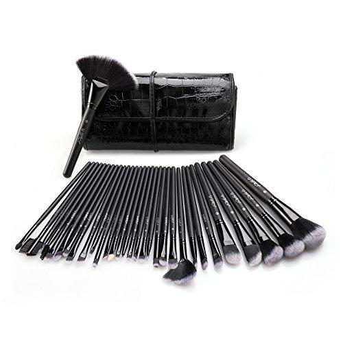 Kosmetik Tasche Pinsel-set (Uspicy Make up Pinsel 32-tlgs Schmink Pinselset etui Schmink Kosmetik Lidschatten Gesichtspinsel Augenpinsel)