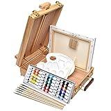 Artina set de peinture complet acrylique Florenz de 17pcs idéal pour les loisirs - Chevalet de table + accessoires
