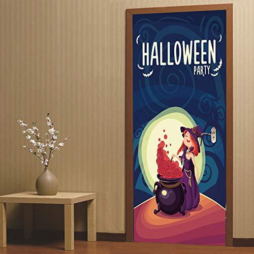 3D Halloween Aufkleber Horror Geist Handabdruck Fledermaus Kürbis Laterne Schädel Home Decoration Paste a 77x200 cm (Halloween Fledermaus Sprüche)