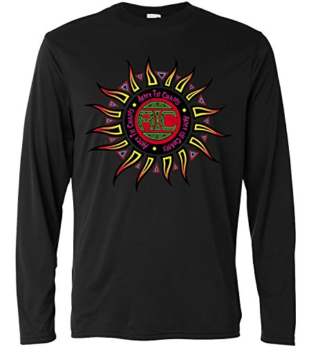 T-shirt a manica lunga Uomo - Alice in Chains Multicolor - Long Sleeve 100% cotone LaMAGLIERIA, L, Nero