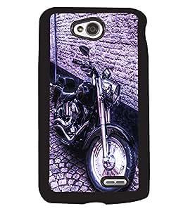 Fuson 2D Printed Bike Designer back case cover for LG L70 - D4501