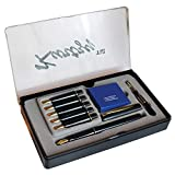 #7: Kurtzy Fountain Ink Pen Set Professional Calligraphy Writing Stationary Ink Kit with 6 Nibs and Cartridges for School Kids, Adults and Professionals