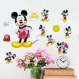 Disney Mickey Mouse Love – Adesivo da parete per bambini – Disney Mickey Mouse Cartoon – Cartoon Print Design – W002
