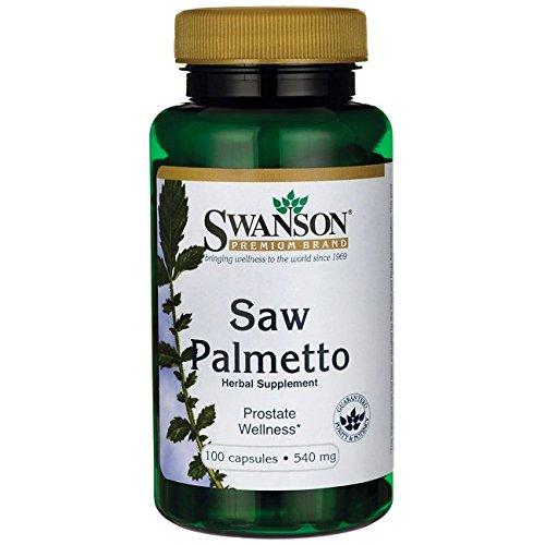 Swanson - Palmier Nain PUR 540mg, 100 gélules (Full Spectrum®) - Baie Complète NATURELLE - Riche en Bêta-Sitostérol & Phytostérols - Vessie & Santé Urinaire des Hommes - Lutte contre l'Hypertrophie Bénigne de la Prostate (HBP) - Nommé également Sabal, Chou Palmiste, Palmier de Floride / Scie - Complément Alimentaire Bio-Actif Naturel Breveté (Saw Palmetto capsules - Serenoa Repens Supplement)