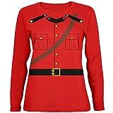 Old Glory Halloween-Kanadische Mounty Polizei Kostüm Womens Long Sleeve T-Shirt