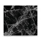 Zeller Küchenrollenhalter, Metall, Marmor schwarz, 56 x 50 x 1 cm