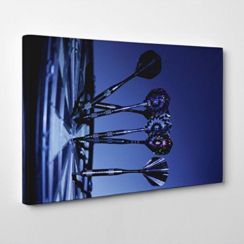 BIG Arty Pie Darts And Dartboard Canvas Print, Multi-Colour, 24 x 16-Inch/60 x 40 cm (Dart Design Boxen)