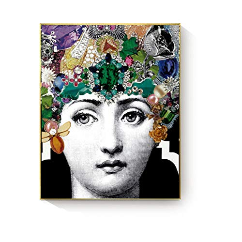 SUNNYFOR Fornasetti Blumen Gesicht Poster Und Drucke Leinwand Malerei Wandkunst Bilder Gemälde Für Wohnzimmer Home Dekorative