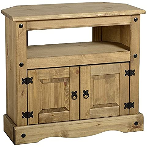 Meuble D'angle En Pin - Practical And Classic Corona Solid Pine Corner