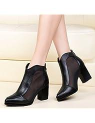 GBT Chaussures Femme Chaussures De Mode Avec Bottes À Talons Hauts Avec Une Seule Chaussure