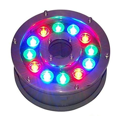 Lumières sous-marines LED 12W Projecteurs sous-marins RGB Lumières sous-marines colorées