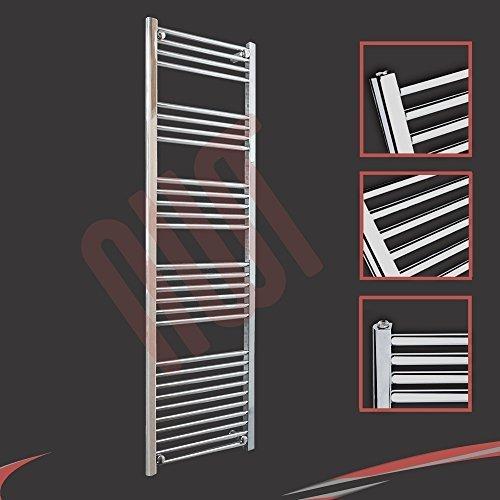 500mm (w) x 1600mm (h) - Radiateur sèche-serviettes plat chromé Barre Horizontale Diamètre: 22mm, Bar Modèle: 4 + 5 + 6 + 7 + 10