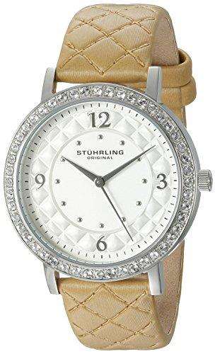 Stührling Original Audrey 786 - Reloj de Cuarzo, para Mujer, de con Correa de Cuero, Color Crema
