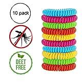 Queta Mückenabwehr-Armbänder aus Silikon, 10 erhältlich, Marktführende Mückenabwehr Insektenabwehr wissenschaftlich gestaltet, 250 Stunden Nutzung pro Armband