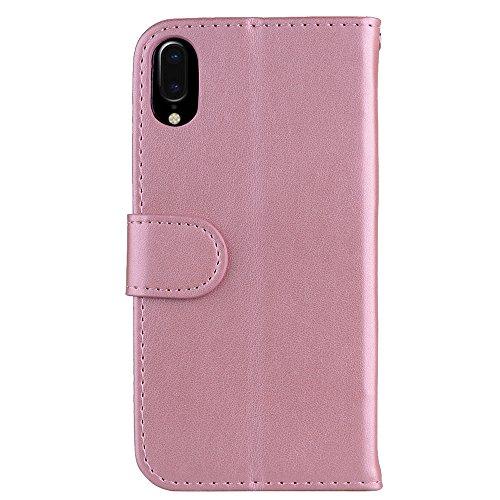 Custodia per iPhone X, ESSTORE-EU Unicorn Design Premium Custodia in PU Pelle con Custodia Innominale Soft TPU, Unicorn Carino con Bling Bling Glitter Charming Scintillante Stella [Oro rosa] Oro rosa