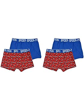 Pack de 4 boxers multicolor (2 modelos diferentes) diseño Spiderman (Marvel)