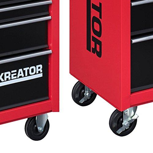 Mobiler Werkstattwagen Werkzeugwagen 348 tlg. gefüllt abschließbar 7 Schubladen - 9