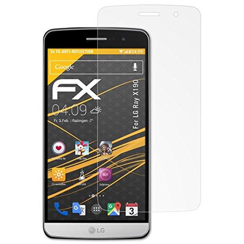atFolix Panzerfolie kompatibel mit LG Ray X190 / Zone Schutzfolie, entspiegelnde & stoßdämpfende FX Folie (3X)