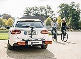 Westfalia Fahrradträger bikelander für die Anhängerkupplung, E-Bike geeignet, LED-Hybrid-Leuchten, zusammenklappbarer Kupplungsträger für 2 Fahrräder, 60 kg Zuladung, universal Vergleich