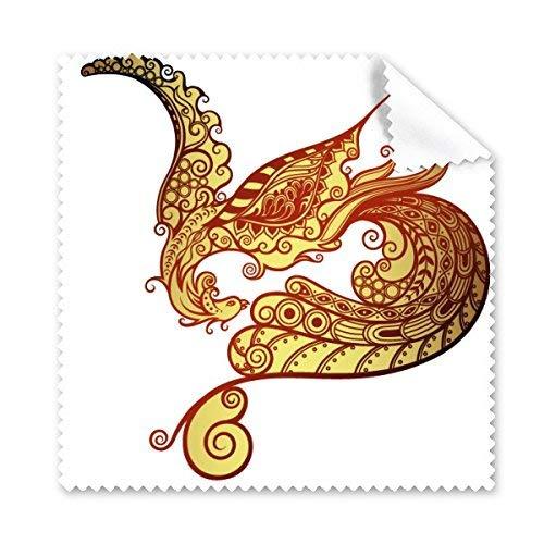 OIBHFO Home Buntes Phoenix-Tierkunst-Korn-Schattenbild-Illustrations-Muster-Glasstoff-Reinigungs-Tuch-Telefon-Bildschirm-Reiniger - Reinigung Körner